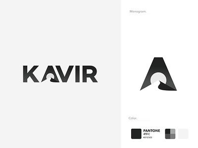 Kavir Consulting Group (KCG) hill iranian persian iran negativespace sun black pantone desert icon mark nagative vector branding logo design