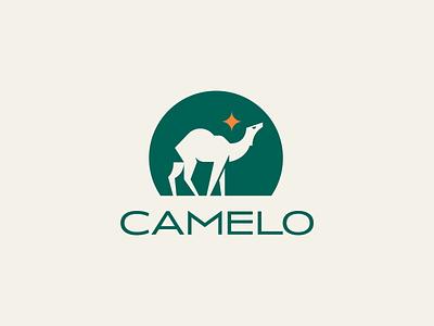 Camelo Logo design branding illustration classic design green logodesign icon iranian iran persian desert animal logo camel