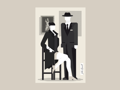 Detectives brown oldies black detective detectives old character iran design iranian illustration illustrator