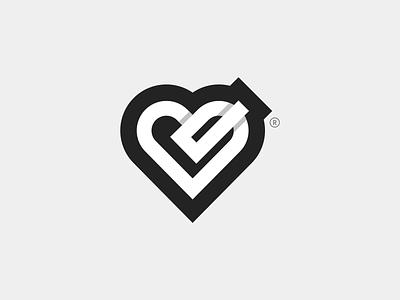 service provider logo service do task work done love heart icon branding design iranian logo design logo