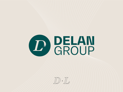 Delan Group logo identity brand green pantone icon graphic design persian d letter design iranian iran