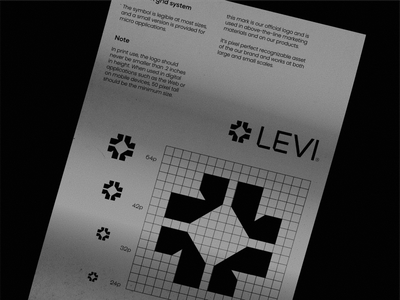 LEVI® - Data science technology date science icon symbol icon mark black logotype brand guidelines logodesign grid symbol visual identity branding logo