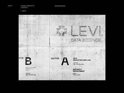LEVI® - Data science grid system grid layout visual identity grid logodesign typogaphy technology black data science icon logos branding logo