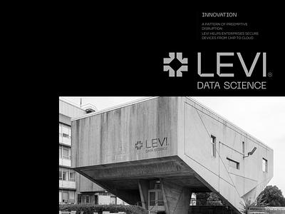 LEVI®  Data science - Visual Identity iran persian visual identity chipset cpu modernism symbol icon technology black data science logo design logo design branding