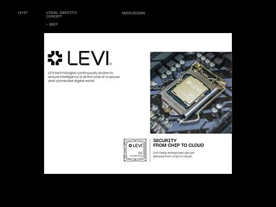 LEVI®  Data science - Visual Identity visual identity iran persian technology leyout grid layout logotype logo design black symbol icon chipset branding