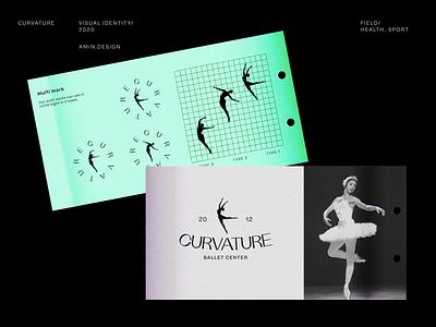 CURVATURE - Logo design branding concept design concept mark logotype curve dance black persian iran yoga ballet logo guidelines visual identity logo branding design branding
