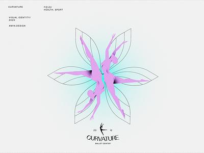 CURVATURE - Illustration 2 yoga dance ballet nude visual identity girl vector persian branding procreate design iran illustration illustrator