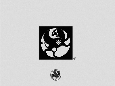Persian Roundel - logo design visual identity mark animal logo empire iranian animal lion black branding symbol icon persian iran logo design logo