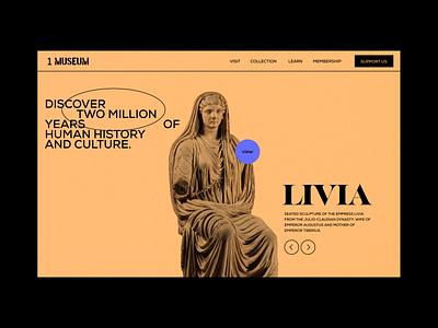 1 Museum - website portfolio landing black bold orange web design iranian persian webdesign landingpage portfolio website userinterface uiux museum minimal ux ui