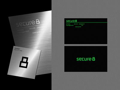 secure8 - Logo iranian persian logodesign visual identity branding crypto digital black grid logotype mark trust secure 8 password security logo design