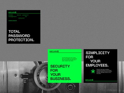 secure8 - Visual Identity protect instagram post poster iranian persian logo logodesign visual identity branding green password manager lock password security secure