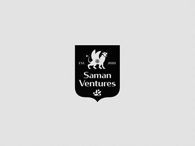 Saman ventures - logo animal logo animal visual identity logodesign sign black symbol mark lion iranian iran persian design branding logo