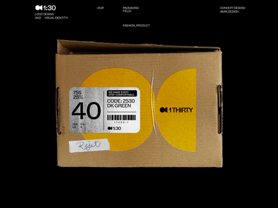 1thirty - logo and visual identity iran persian branding symbol shoes fashion yellow visual identity print design box logo