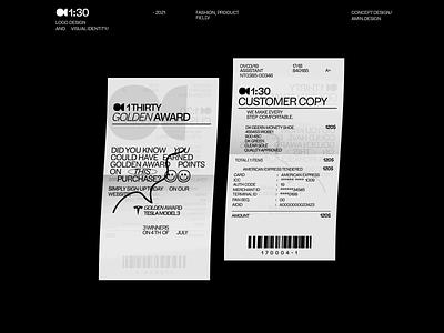 1thirty -  customer copy persian visual identity identity printing gold award brand symbol brandin customer copy customer print logo