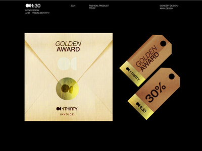1thirty - print mark design iran persian award campaign gold discount off letterhead print visual identity branding symbol logo