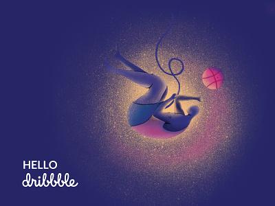 Hello Dribbble! apple pencil ipad pro first shot ui iranian iran hello hello dribbble illustrator illustration