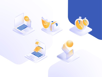 Some isometric icons for zoodex website