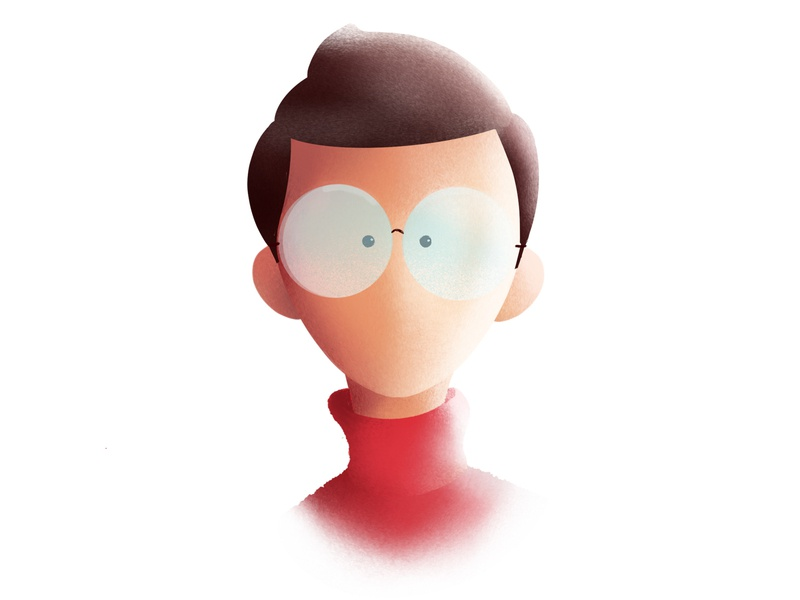 My New Profile Pic! procreate avatar face character apple pencil ipad pro iranian illustrator illustration