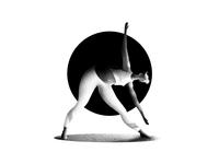 Flexible girl doing yoga