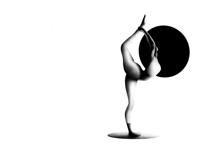 Yoga girl! vector yoga design ballet procreate character apple pencil ipad pro iran illustrator illustration