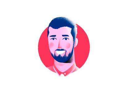 This is my friend, Amir! profile image logo avatar iranian design apple pencil procreate character ipad pro iran illustrator illustration