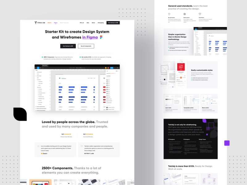 Tetrisly for Figma - Landing page