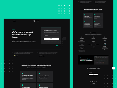 Hire us - Tetrisly Page design team team website style guides styleguide component library components component design systems system design page landing branding landing page ux ui