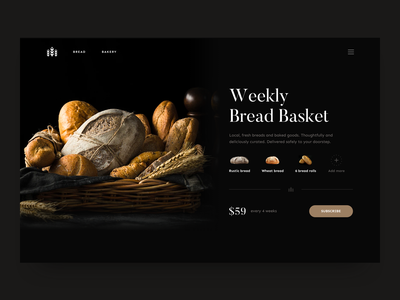 Weekly Bread Basket - Subscription branding page product buy ecommerce shop bread bakery subscription