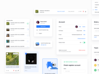 CleanShot Cloud - Design Components settings page user user profile select design system form input upload components dashboard component app ux ui