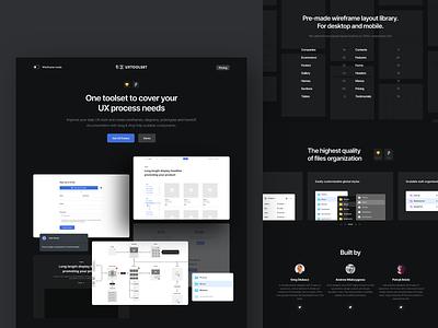 uxtoolset.com - Landing Page branding website webdesign freebie ux  ui component sketch figma uidesign minimal design landing page ux ui