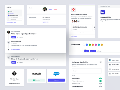 XSpot - Components sales management tool sales software salesforce sales saas crm saas saas modals components component design modal box modal design saas components permissions web user card user profile timeline component card saas card design color tags tags web integration web