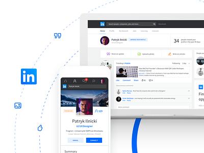 Linkedin Redesign modern clean ui social socialmedia concept redesign profile linkedin