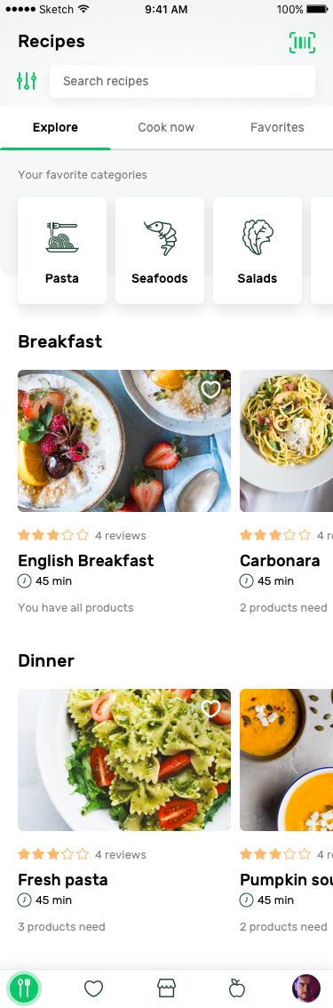 Recipes explore