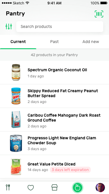 Pantry current