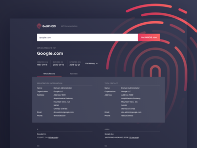 GetWHOIS - Search result