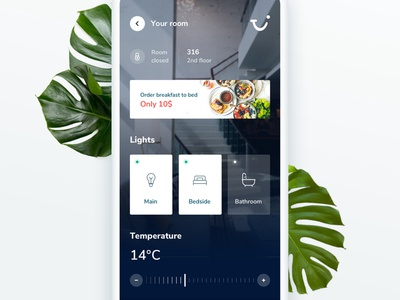 TUI Holiday - Concept App - Smart room