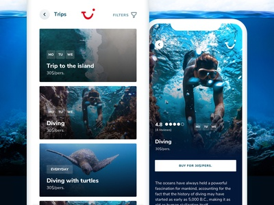 TUI Holiday - Concept App - Nearby attractions