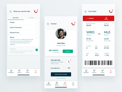 TUI Holiday - Concept App - Other features