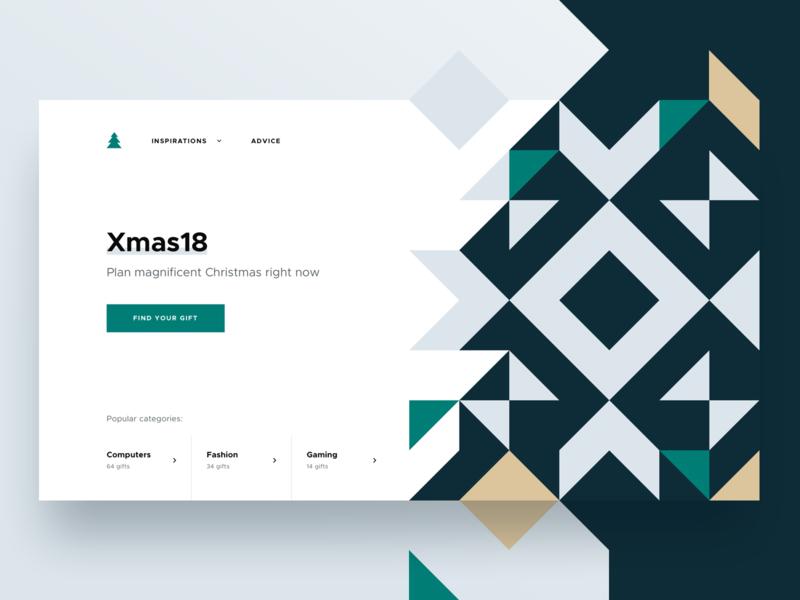 🎄Xmas18 gifts - Top gifts gift xmas christmas minimalism minimal clean illustration modern ui