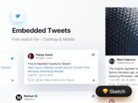 Embedded tweets dribbble