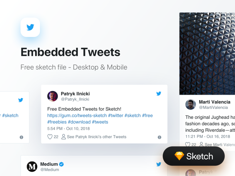 [FREE] Embedded Tweets for Sketch