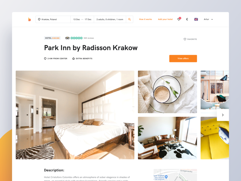Bidroom - Hotel Details modern clean design rooms uxdesign uidesign website product page booking hotel booking hotel minimal page ux ui landing page