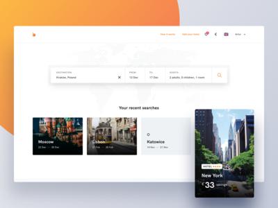 Bidroom - Search page