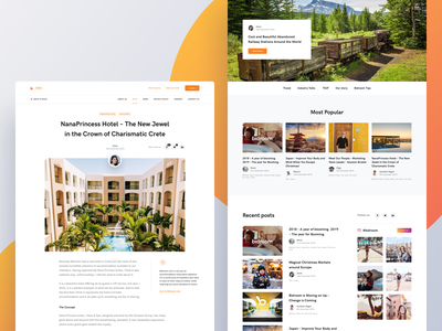 Bidroom - Blog and article hotel landing page uxdesign uidesign photos article page article post blogs blog ux ui