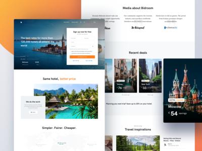 Bidroom - Landing Page