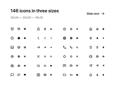 146 pixel-perfect icons in three sizes (24/20/16) filled icon icons design iconset app icon ui icon filled icons pack vector icons set icon set icons icon