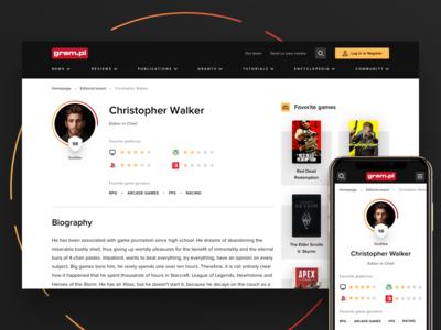 Video game magazine - User profile