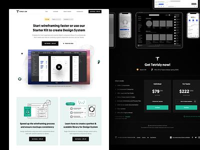Tetrisly.com - Landing Page design system illustration webdesign uidesign component design landing page ux ui