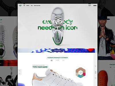 Adidas Stan Smith concept smith stan adidas sneakers shoes ui-design ux-design
