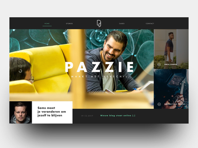 Pazzie colours website user ux ui simple unfinished minimal layout flat